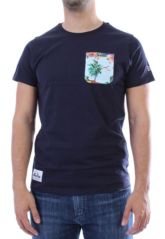 New Era T-Shirt Men - ISLAND POCKET - Navy – Bild 1