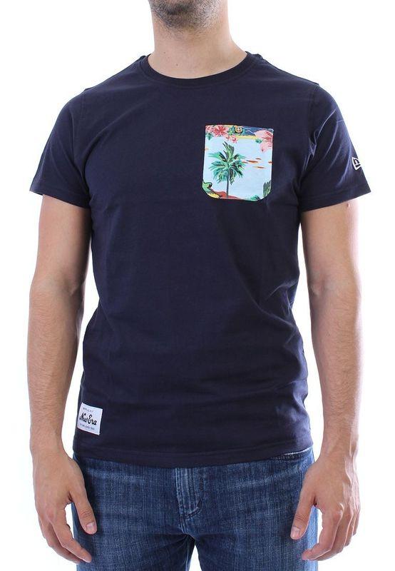 New Era T-Shirt Men - ISLAND POCKET - Navy – Bild 1