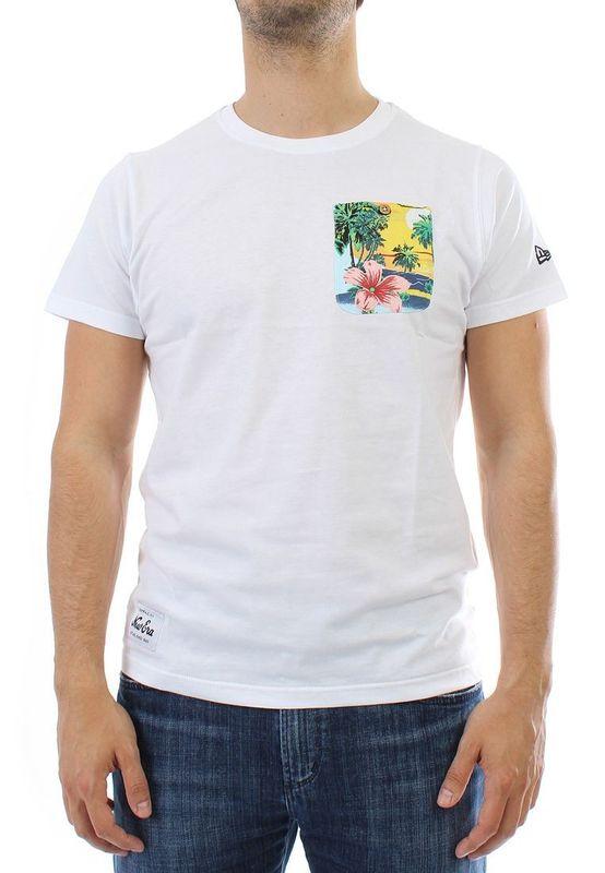 New Era T-Shirt Men - ISLAND POCKET - White – Bild 1