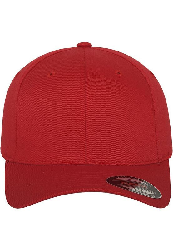 Flexfit Fitted Cap - WOOLY COMBED 6277 - Red – Bild 2