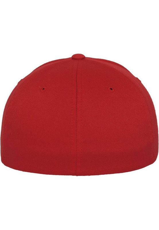 Flexfit Fitted Cap - WOOLY COMBED 6277 - Red – Bild 4