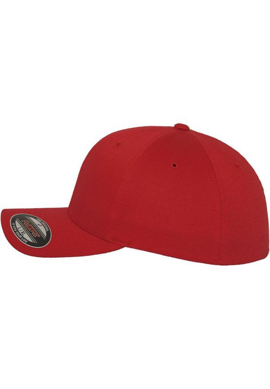 Flexfit Fitted Cap - WOOLY COMBED 6277 - Red – Bild 5
