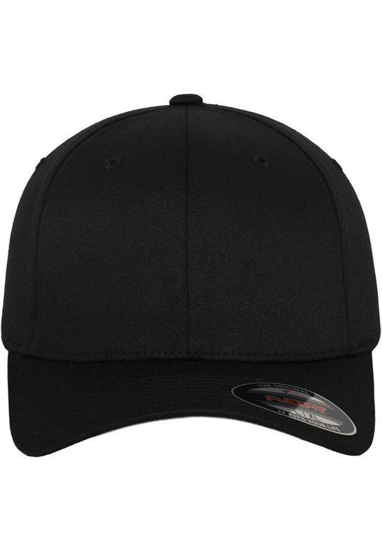 Flexfit Fitted Cap - WOOLY COMBED 6277 - Black – Bild 2