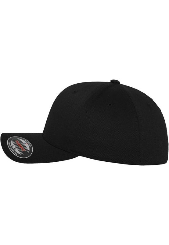 Flexfit Fitted Cap - WOOLY COMBED 6277 - Black – Bild 4