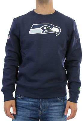 New Era Team Logo Crew Pullover Men - SEATTLE SEAHAWKS - Navy – Bild 0
