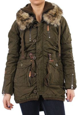 Khujo Parka Women - NOME WITH INNER JACKET - Olive – Bild 0
