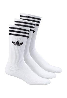 Adidas Socken Dreierpack - SOLID CREW SOCK S21489 - White-Black