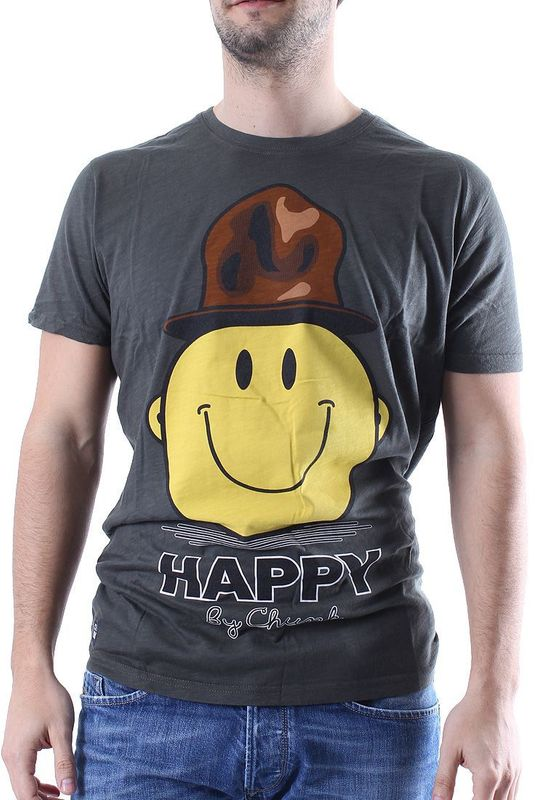 Chunk T-Shirt Men HAPPY Khaki Slub – Bild 0