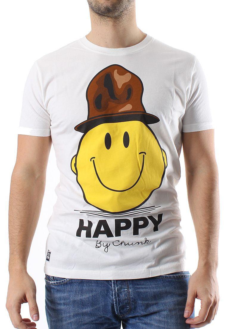 Chunk T-Shirt Men HAPPY Winter White
