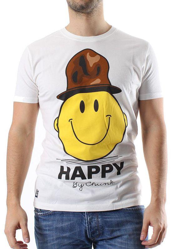 Chunk T-Shirt Men HAPPY Winter White Ansicht