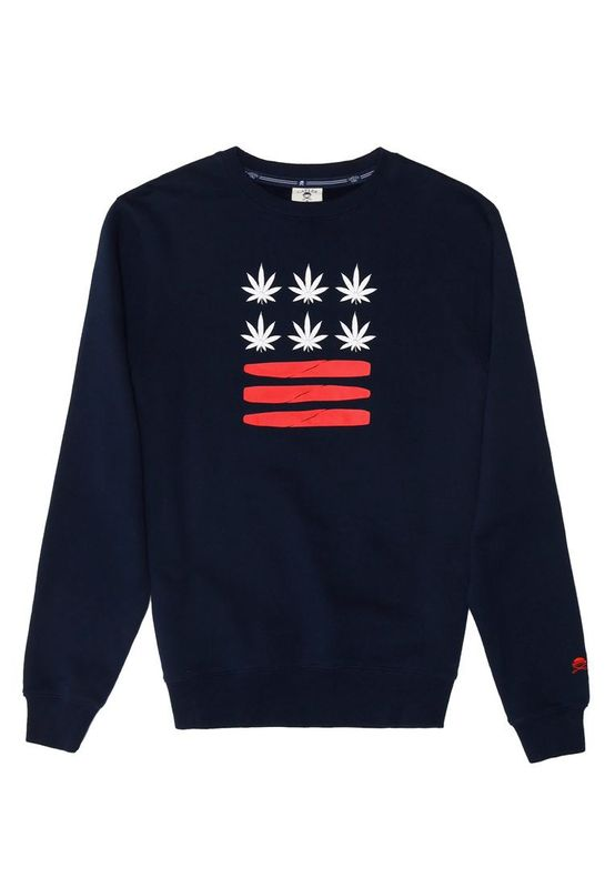 Cayler & Sons Pullover Men BUDZ N BLUNTZ Navy Red White Ansicht