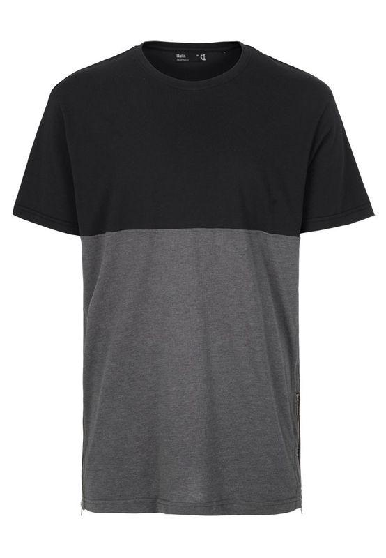 Solid Oversize T-Shirt Men SIXTO Jet Black Ansicht