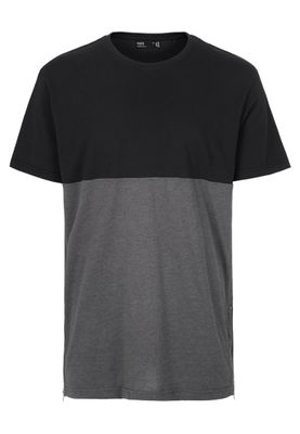 Solid Oversize T-Shirt Men SIXTO Jet Black