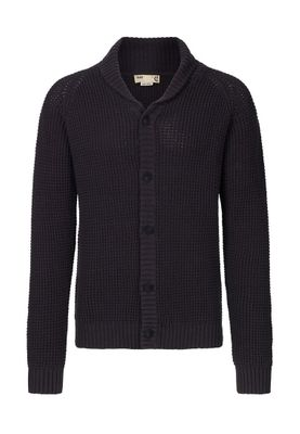 Solid Strickjacke Men REINO Dark Grey