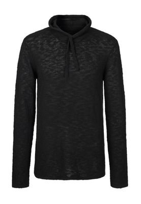 Solid Pullover Men STEFFAN Jet Black