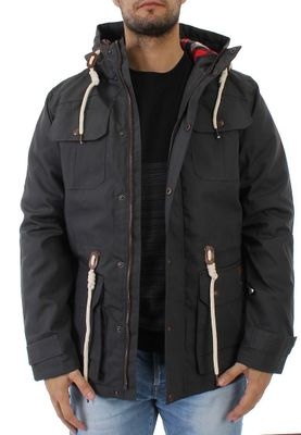 Solid Parka Men PISANIO Dark Grey – Bild 3