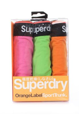 Superdry Dreierpack Boxershorts Men ORANGE LABEL SPORT TRUNK Fluro Pink Green Orange