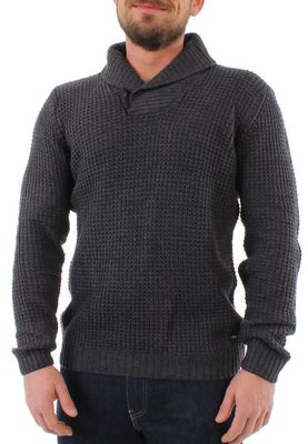 Solid Pullover Men KNIT REINHARD Dark Grey – Bild 0