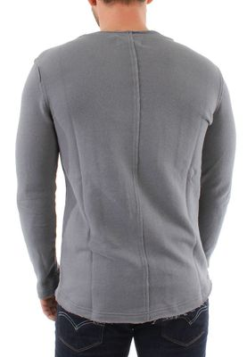 Solid Pullover Men KNIT STORM Mid Grey – Bild 1