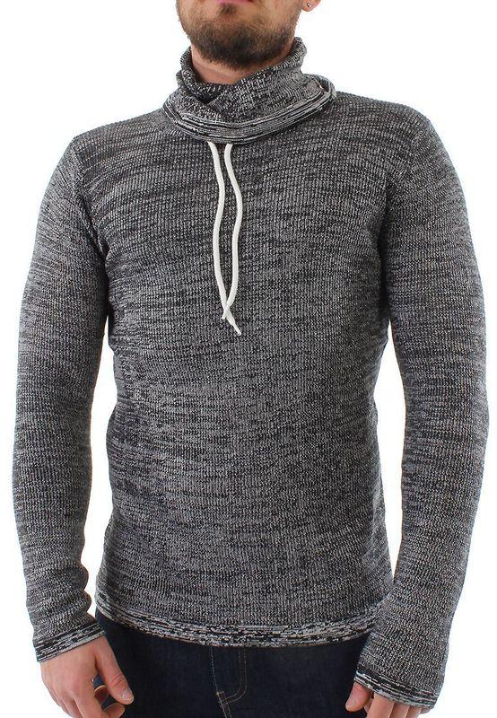 Solid Pullover Men REGIS Black Ansicht