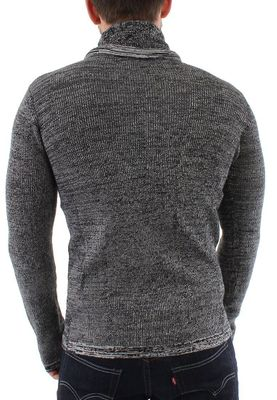 Solid Pullover Men REGIS Black – Bild 1