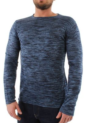 Solid Longsleeve Men KNIT STRATTON Insignia Blue – Bild 0
