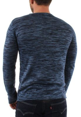Solid Longsleeve Men KNIT STRATTON Insignia Blue – Bild 1