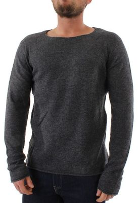 Solid Pullover Men KNIT REKKER Dark Grey – Bild 0