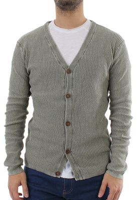 Solid Cardigan Men STATON Ivy Green – Bild 0