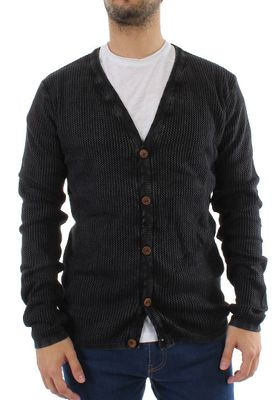 Solid Cardigan Men STATON Black – Bild 0