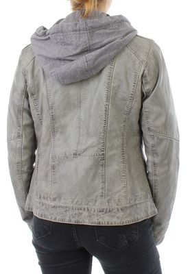 Oakwood Lederjacke Women SUNDAY 61843 Grau – Bild 1