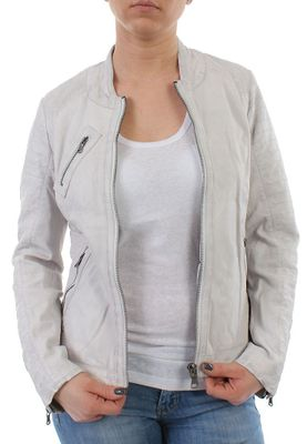 Oakwood Lederjacke Women HALL NEW 61682 Weiss – Bild 2