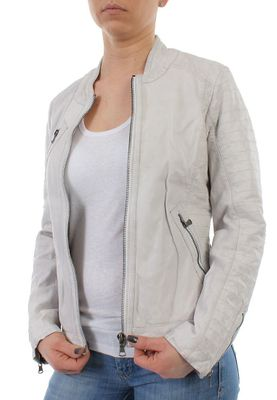 Oakwood Lederjacke Women HALL NEW 61682 Weiss – Bild 3