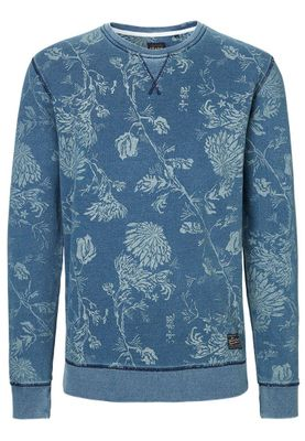 Solid Pullover Men SWEAT BRECK Mood Indigo