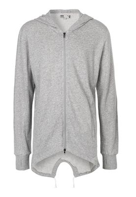 Solid Longhoodie Men BRIAN Light Grey