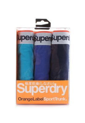 Superdry Dreierpack Boxershorts Men ORANGE LABEL TRIPLE PACK Hawai Blu Aloha