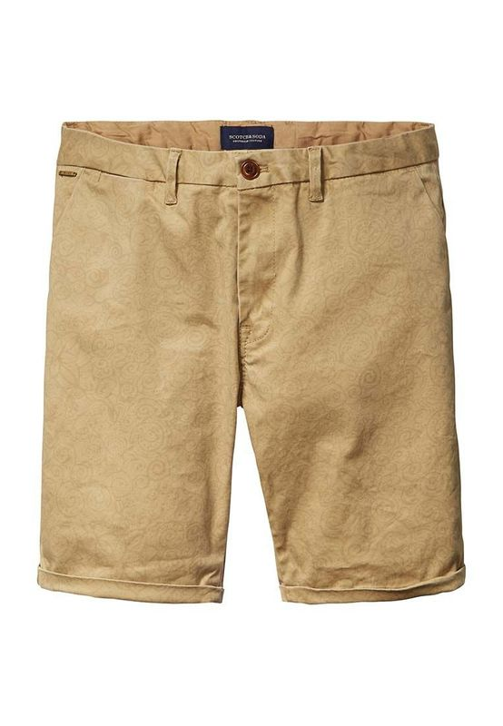 Scotch & Soda Shorts Men 16-SSMM-C81 Braun Dessin B 131024 Ansicht
