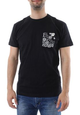 iriedaily T-Shirt Men PANDILLA POCKET Black – Bild 0