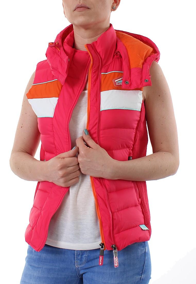 superdry weste women sun sport fuji gilet sunset pink. Black Bedroom Furniture Sets. Home Design Ideas