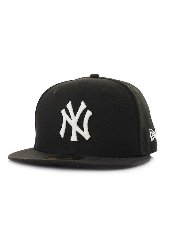 New Era GITD Glow in the Dark 59Fifty Cap NY YANKEES Schwarz Weiß – Bild 0