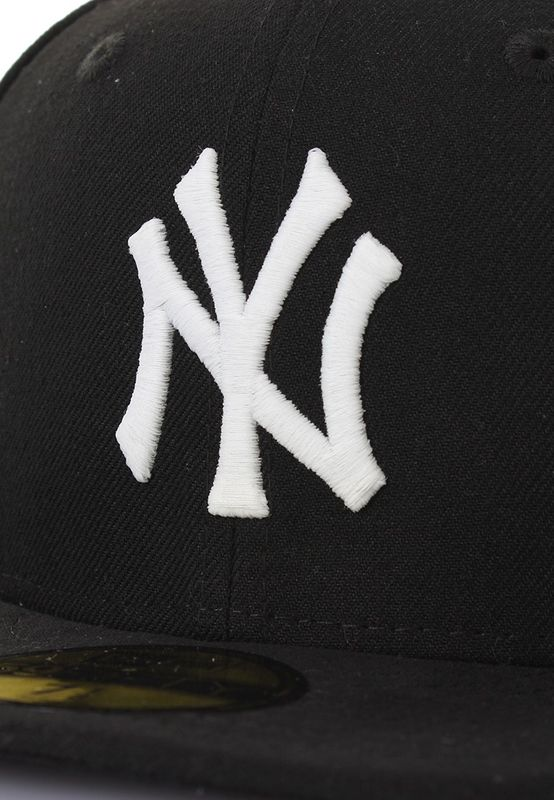 New Era GITD Glow in the Dark 59Fifty Cap NY YANKEES Schwarz Weiß – Bild 2