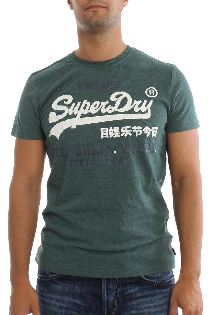 Superdry T-Shirt Men SHIRT SHOP DUO Forest Marl