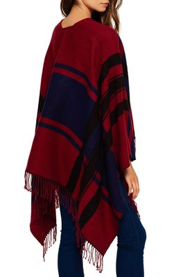 Superdry Poncho ARIZONA BLANKET Wine Deep Indigo – Bild 1