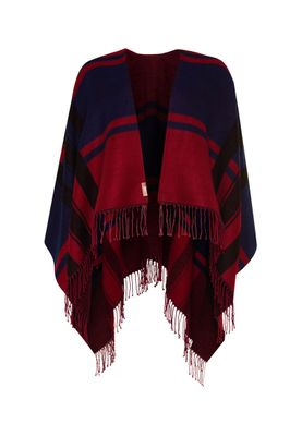 Superdry Poncho ARIZONA BLANKET Wine Deep Indigo – Bild 0