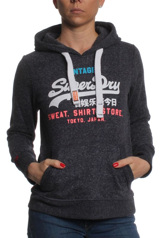 Superdry Sweater Women SWEAT SHIRT STORE Imperial Navy Snowy