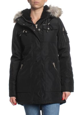 Khujo Jacke Women FIRA WITH FUR BODY LINING Black – Bild 0