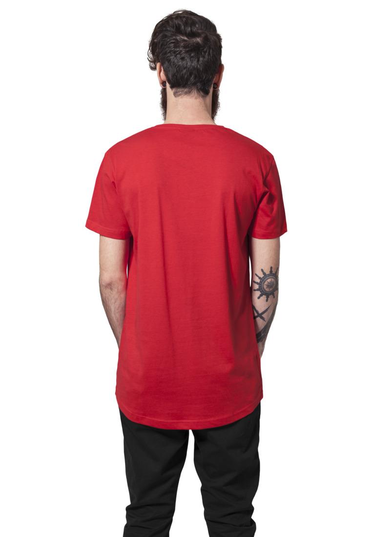 urban classics herren shaped long shirt tb638 fire red herren t shirts tanks. Black Bedroom Furniture Sets. Home Design Ideas