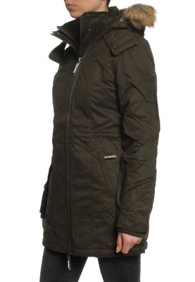 Superdry Mantel Women MICROFIBRE TALL PARKA Army Blonde Fur – Bild 2