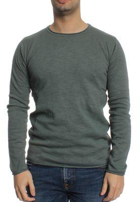 Solid Pullover Men ERLING Balsam Green – Bild 0