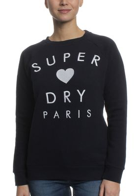 Superdry Sweatshirt Women CASTAWAY GRAPHIC CREW Ridge Navy – Bild 0